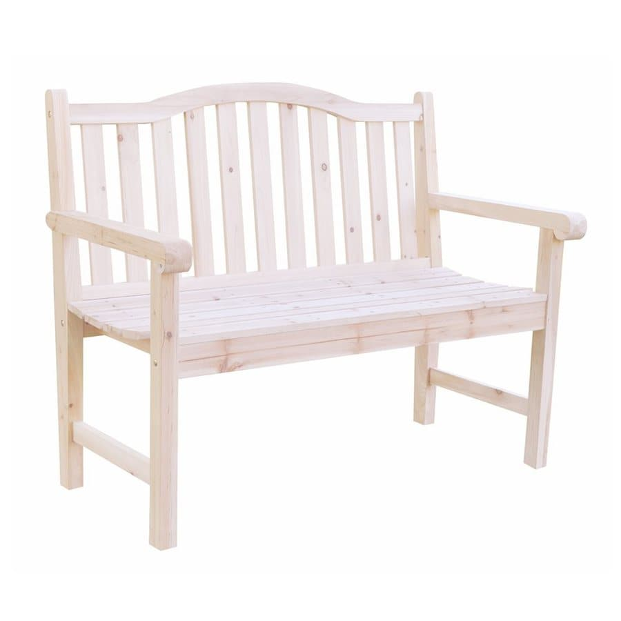 Shine Company 22-in W x 44.75-in L Natural Cedar Patio Bench