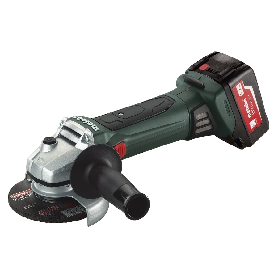 Metabo 4.5-in 18-Volt-Volt Cordless Angle Grinder (2-Batteries Included)