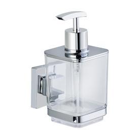 WENKO Vacuum Loc Quadro Chrome Stainless Steel Soap Dispenser