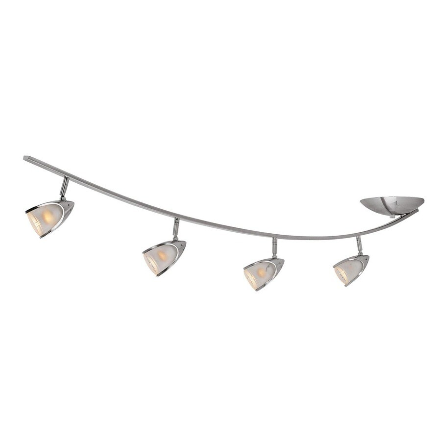 Access Lighting Comet 4-Light 53.5-in Brushed Steel Glass Pendant Linear Track  Lighting - Shop Linear Track Lighting Kits At Lowes.com