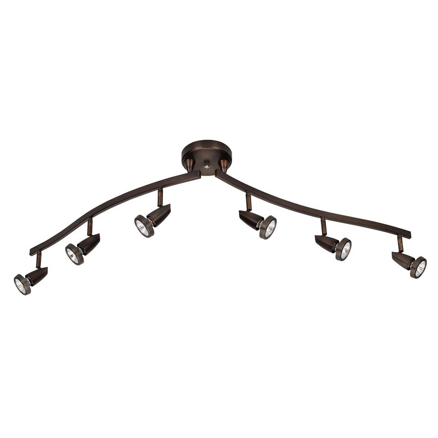 Access Lighting Mirage 6-Light 49-in Bronze Step Linear Track Lighting Kit