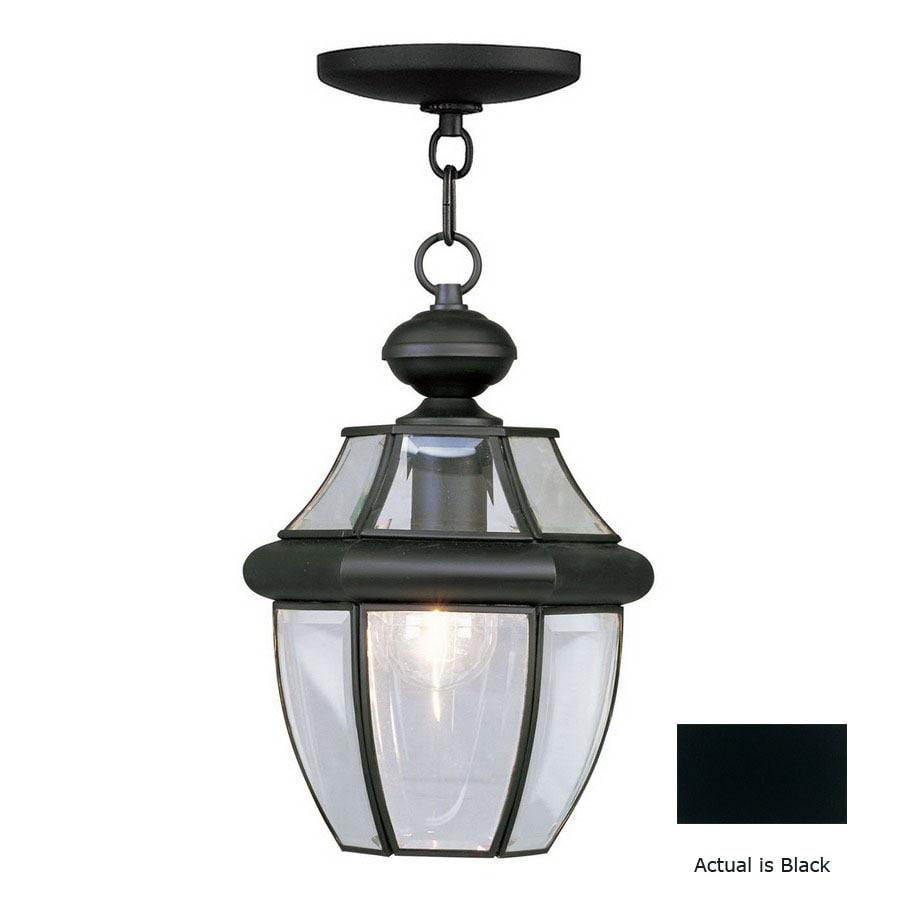 Livex Lighting Monterey 12-3/4-in Black Outdoor Pendant Light