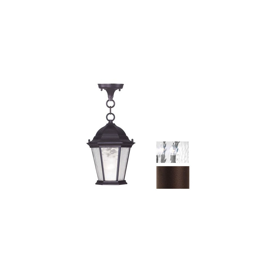 Livex Lighting Hamilton 16-1/2-in Bronze Outdoor Pendant Light