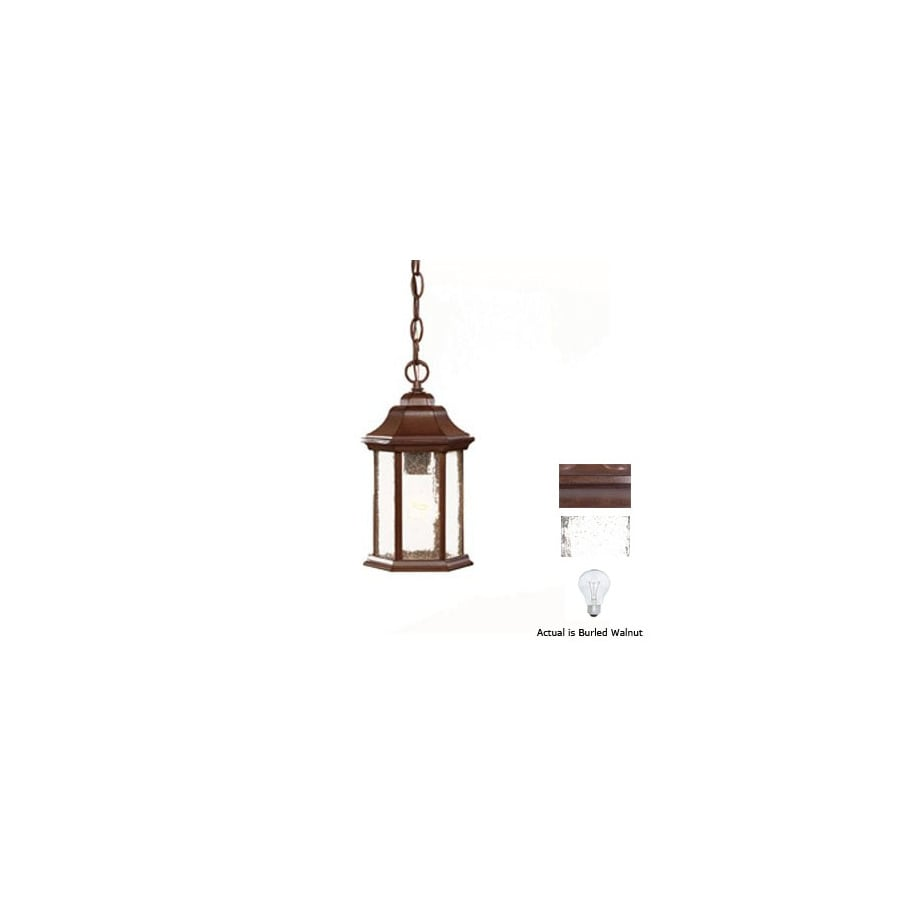 Acclaim Lighting Madison 12-in Burled Walnut Outdoor Pendant Light