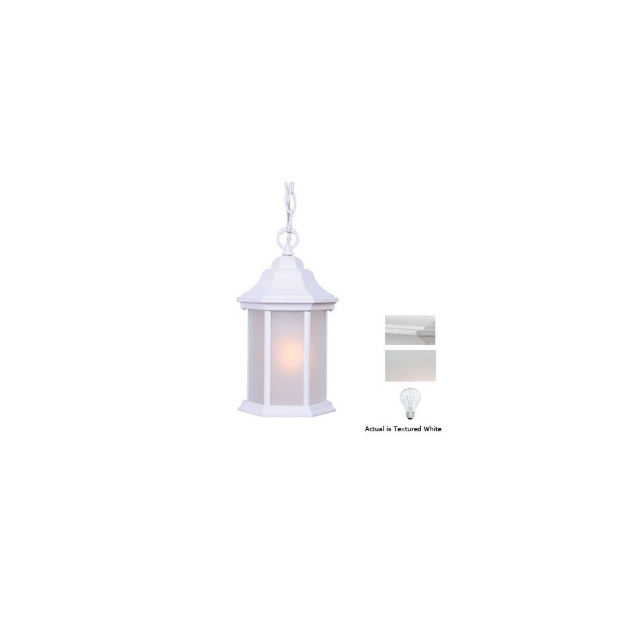 Acclaim Lighting Madison 12-in Textured White Outdoor Pendant Light