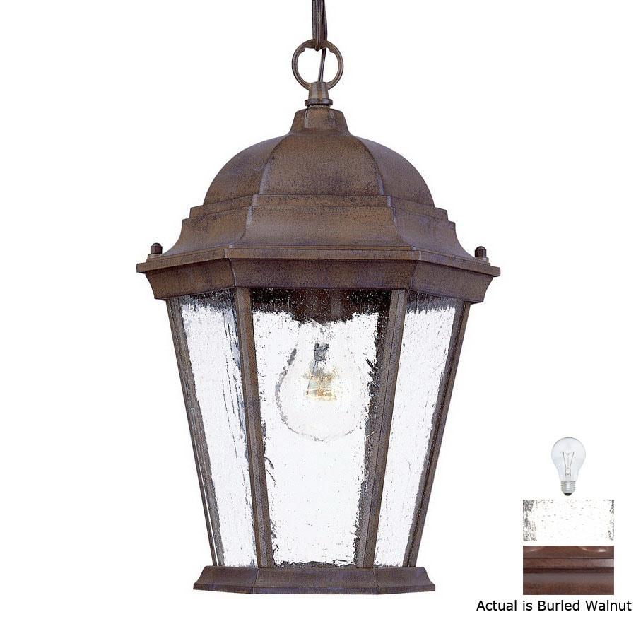 Acclaim Lighting Richmond 14-in Burled Walnut Outdoor Pendant Light