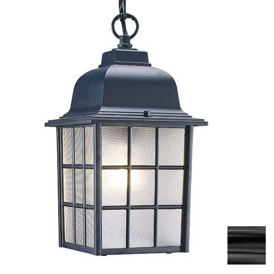 Acclaim Lighting Nautica 12-in Matte Black Outdoor Pendant Light