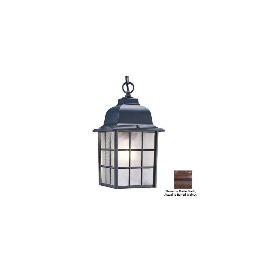 Acclaim Lighting Nautica 12-in Burled Walnut Outdoor Pendant Light