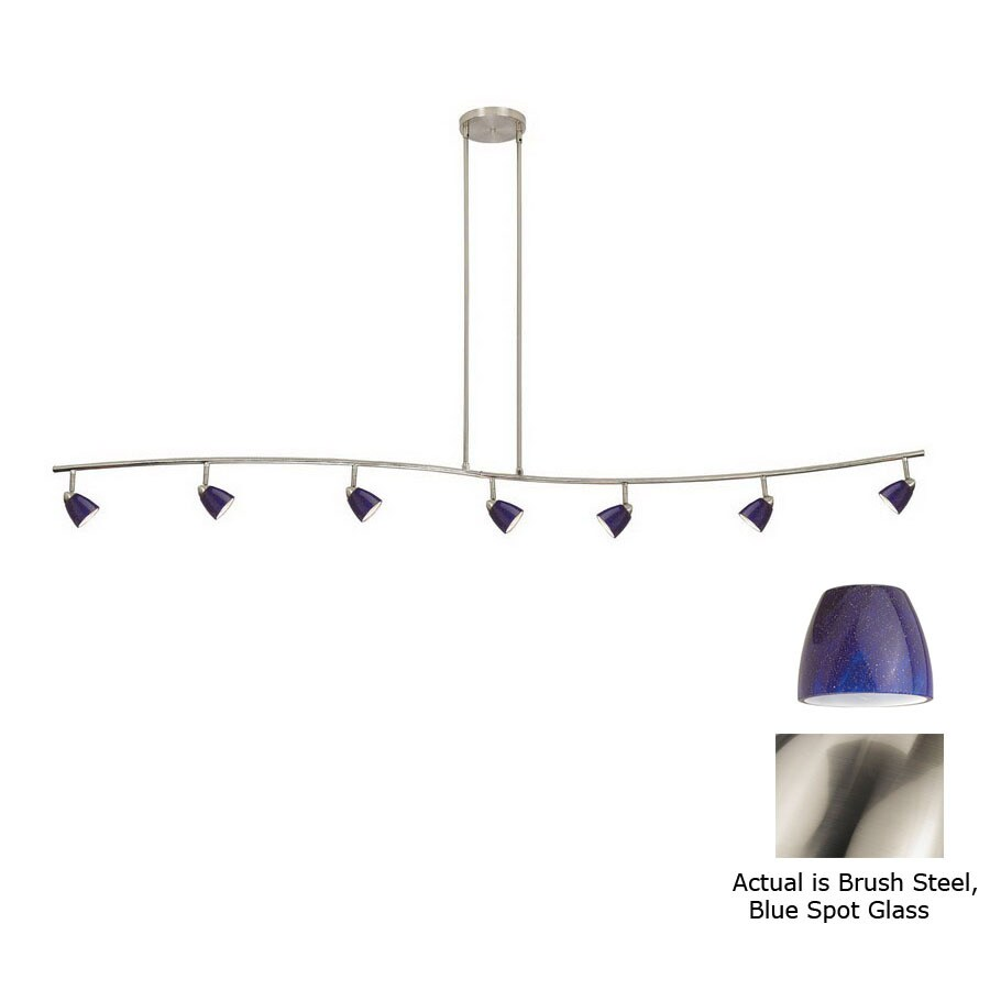 Cal Lighting Serpentine 7 Light 80 In Brushed Steel Dimmable Gl Pendant Linear Track