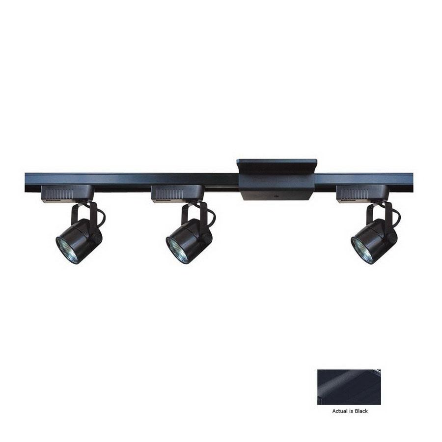 Wac Lighting J2 Track: Cal Lighting 3-Light 48-in Black Dimmable Flat Back Linear