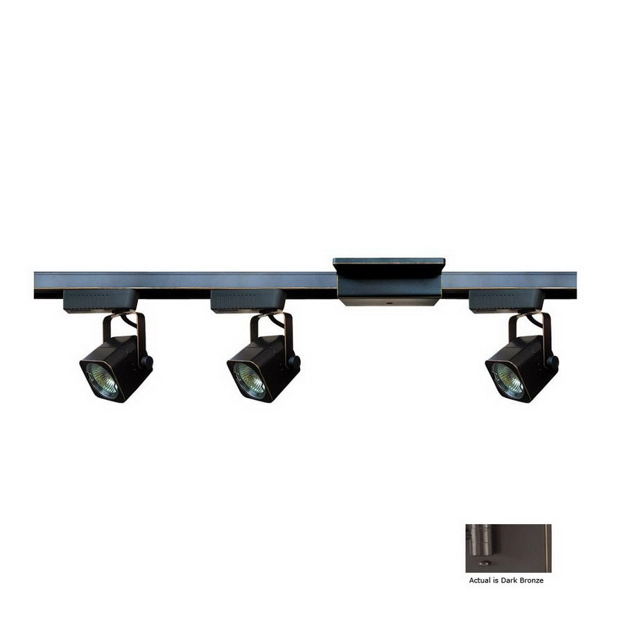 Cal Lighting 3-Light 48-in Dark Bronze Flat Back Linear Track Lighting Kit