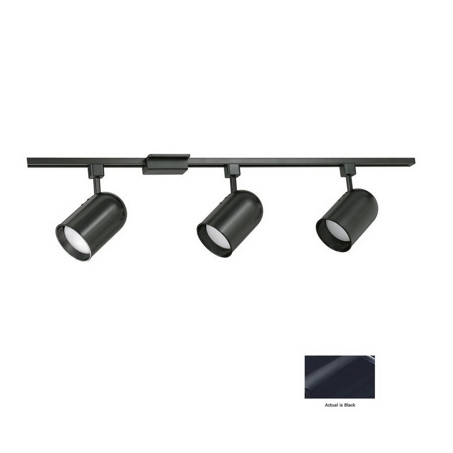 Cal Lighting 3-Light 48-in Black Roundback Linear Track Lighting Kit