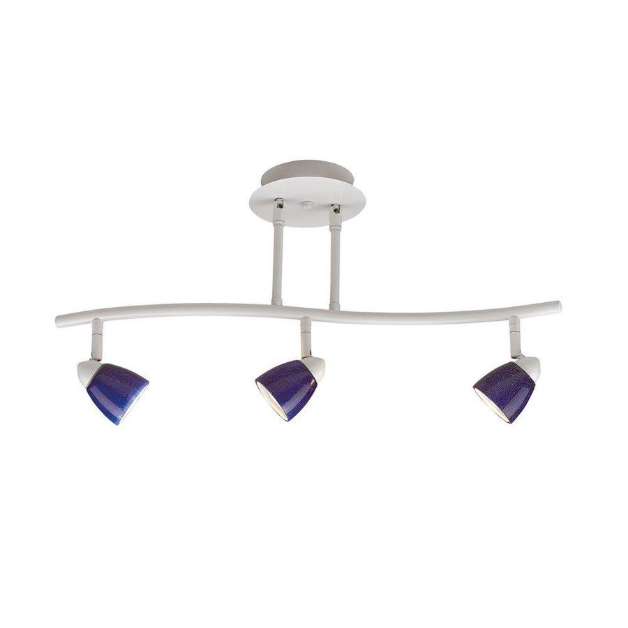 Cal Lighting Serpentine 3-Light 24-in Black Glass Pendant Linear Track Lighting Kit