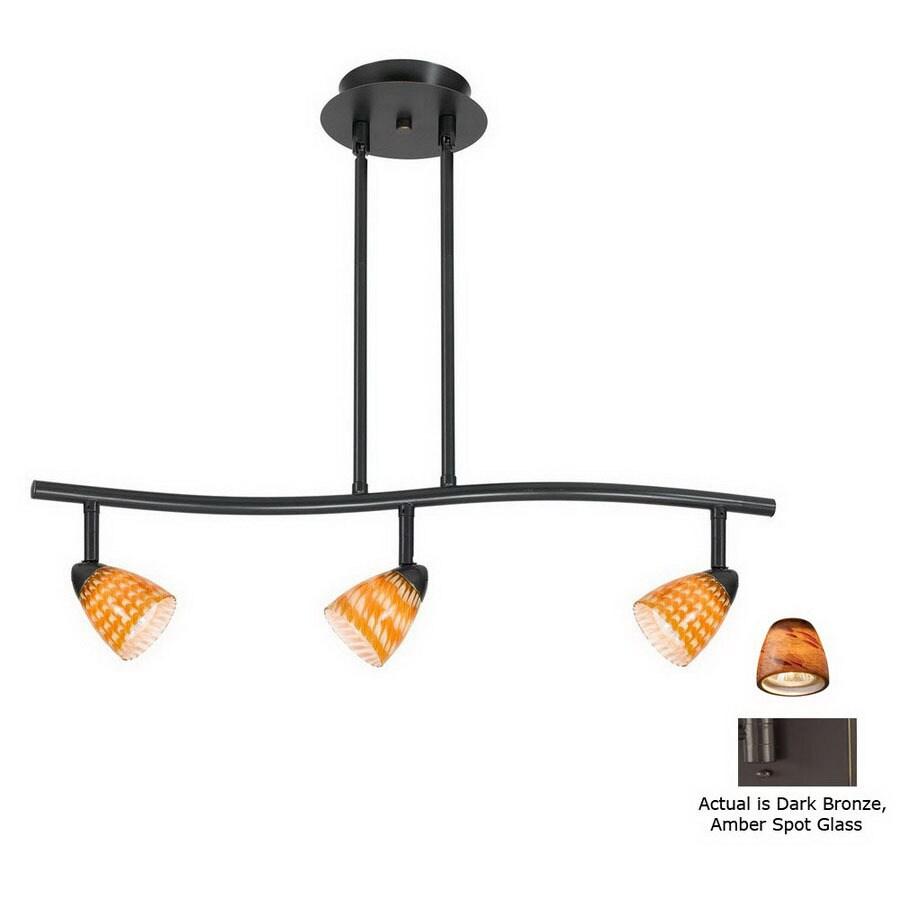cal lighting serpentine 3light 24in dark bronze glass pendant linear track lighting - Cal Lighting