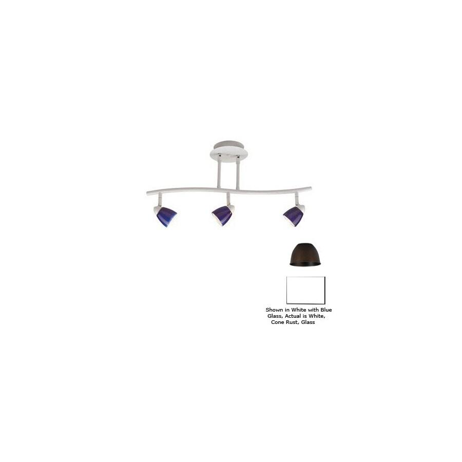 White Pendant Track Lighting: Shop Cal Lighting Serpentine 3-Light 24-in White Glass