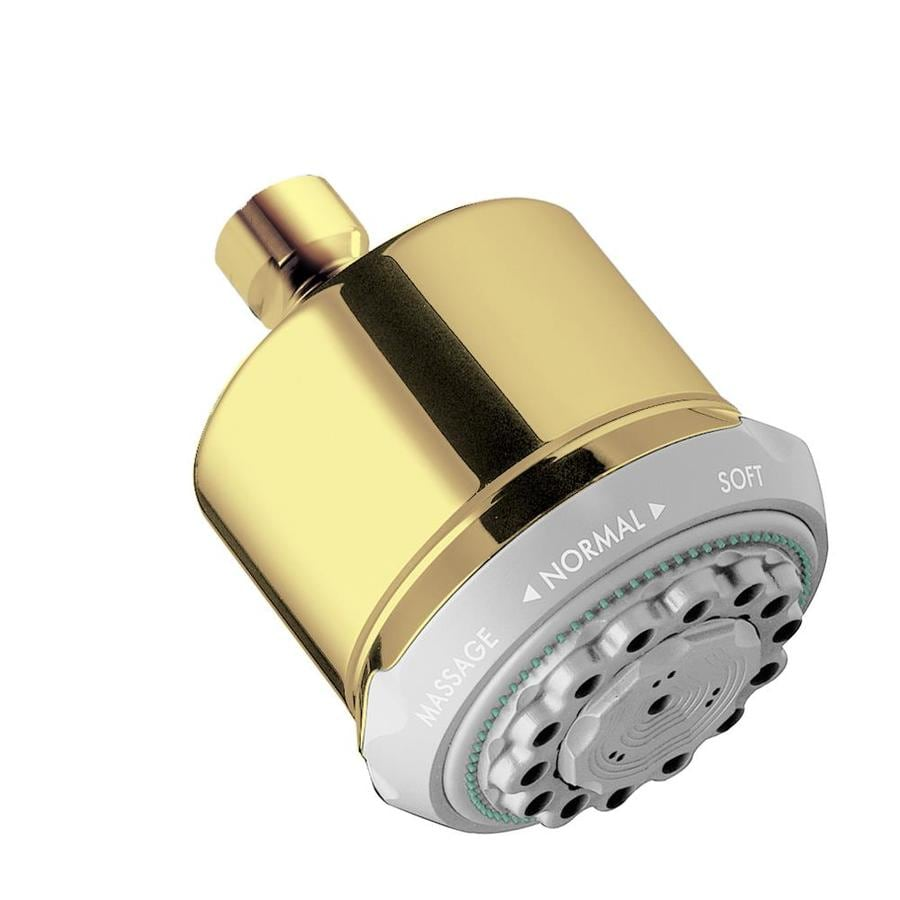Hansgrohe HG 3.5-in 2.5-GPM (9.5-LPM) Polished Brass 3-Spray Showerhead