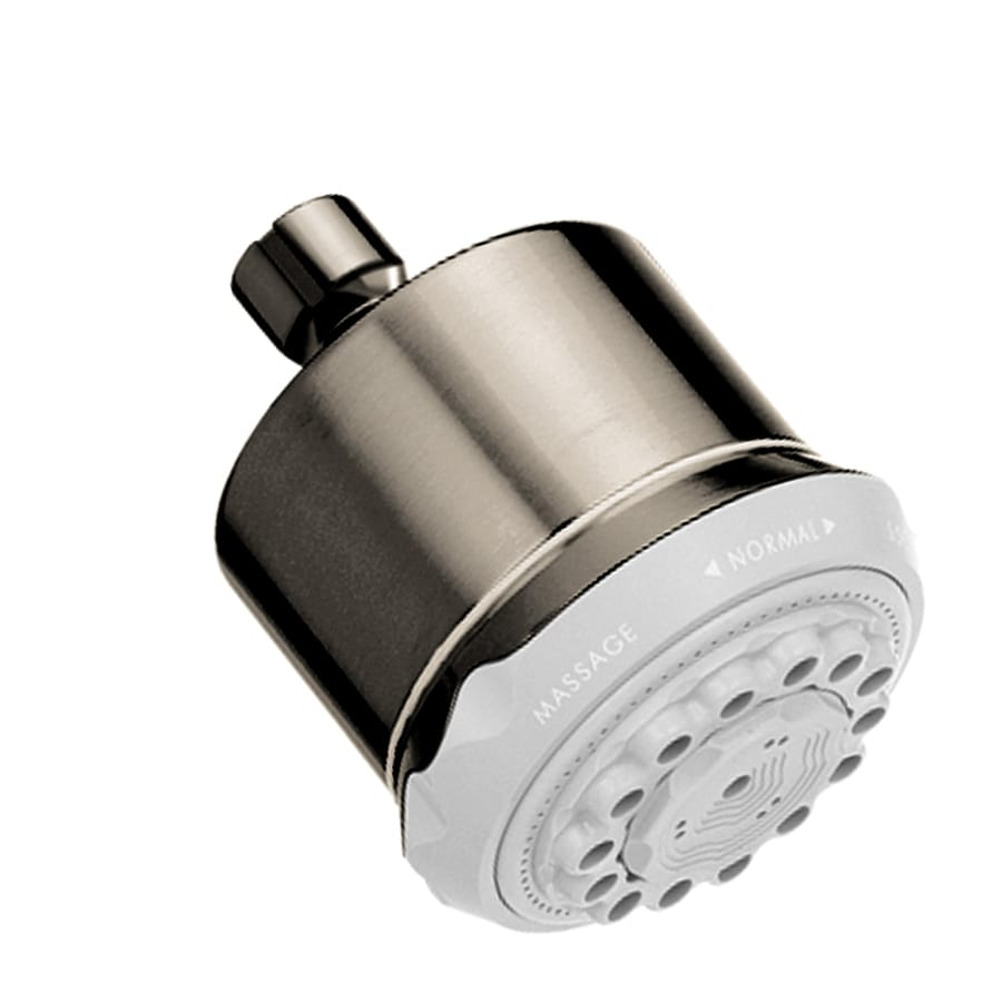 Hansgrohe HG 3.75-in 2.5-GPM (9.5-LPM) Brushed Nickel 3-Spray Showerhead