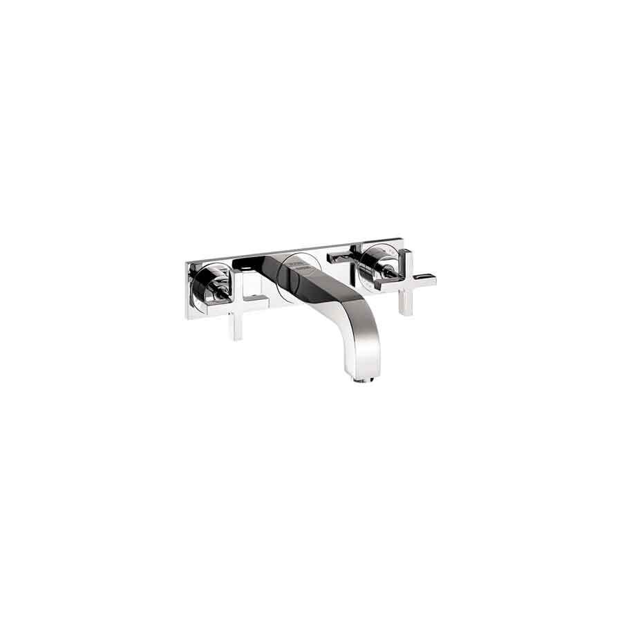 Hansgrohe Axor Citterio Chrome 2-Handle Widespread WaterSense Bathroom Sink Faucet (Drain Included)