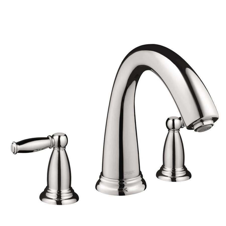 Shop hansgrohe swing c chrome 2 handle bathtub faucet at - Hansgrohe shower handle ...