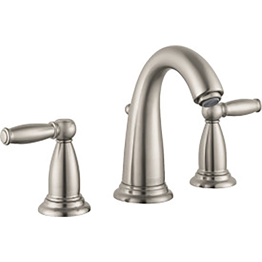 hansgrohe bathroom sink faucets shop hansgrohe swing c brushed nickel 2 handle widespread 18667