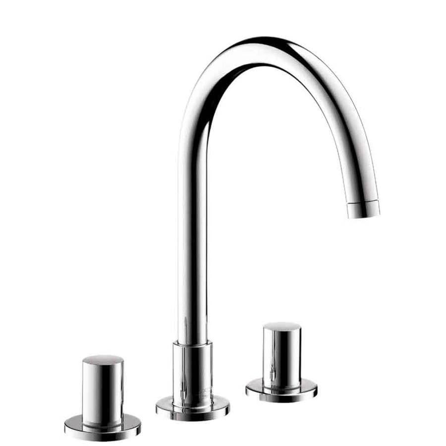 shop hansgrohe axor uno chrome 2 handle widespread watersense bathroom faucet drain included. Black Bedroom Furniture Sets. Home Design Ideas