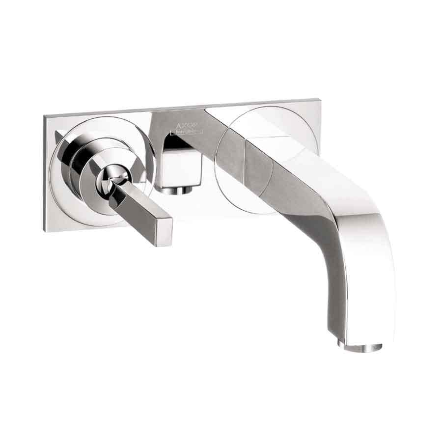 Hansgrohe Axor Citterio Chrome 1-Handle 4-in Centerset WaterSense Bathroom Faucet (Drain Included)