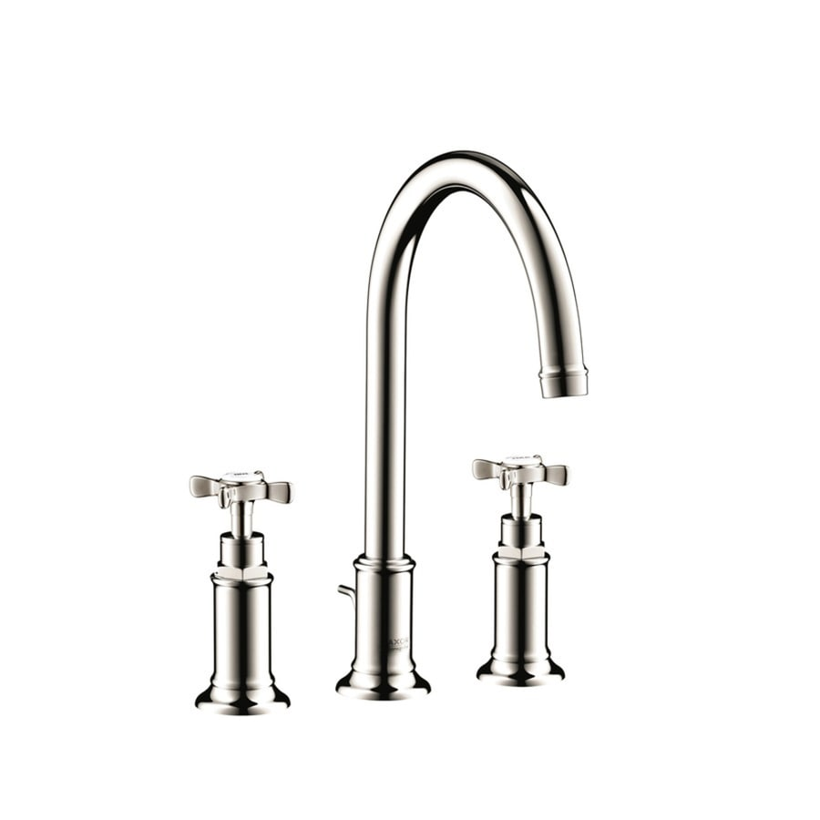 hansgrohe bathroom sink faucets shop hansgrohe montreux axor polished nickel 2 handle 18667