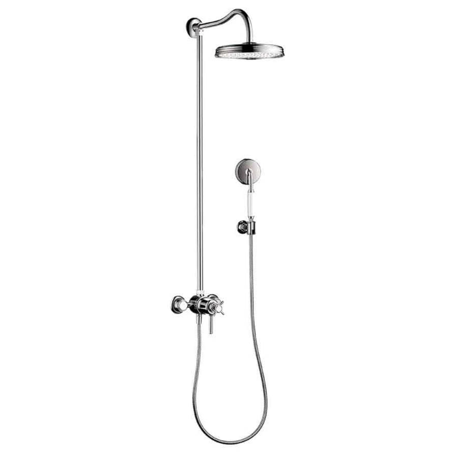 shop hansgrohe axor montreux 10 in 2 5 gpm 9 5 lpm chrome 1 spray showerhead at. Black Bedroom Furniture Sets. Home Design Ideas