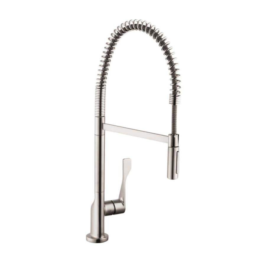 Shop Hansgrohe Citterio Steel Optik 1 Handle Pull Down Kitchen