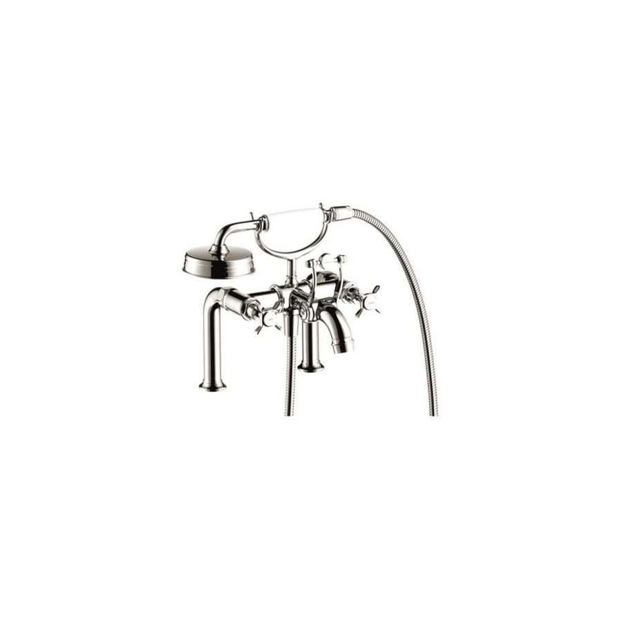 Hansgrohe Montreux Axor Brushed Nickel 2-Handle Fixed Deck Mount Bathtub Faucet