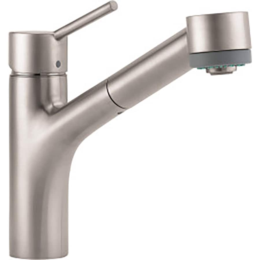Low Arc Kitchen Faucet Shop Hansgrohe Hg Kitchen Steel Optik 1 Handle Low Arc Kitchen