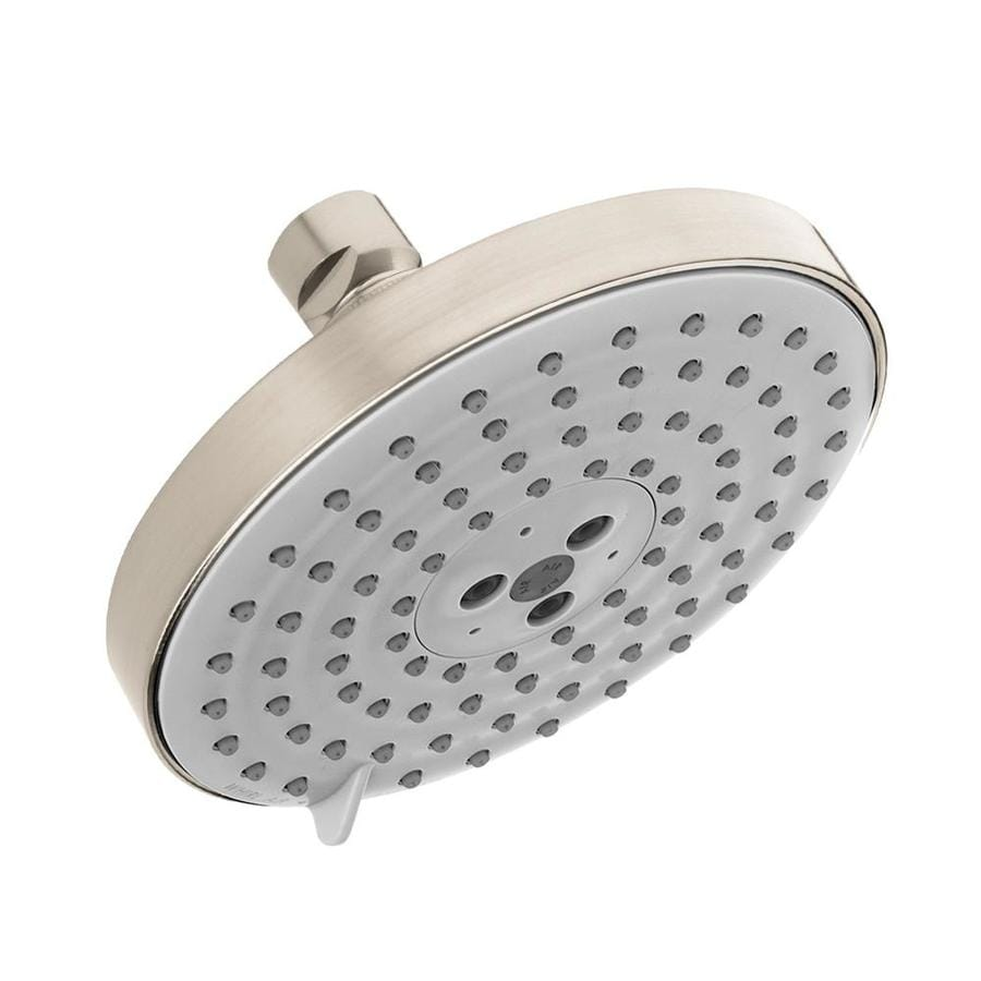 Hansgrohe HG 6-in 2.5-GPM (9.5-LPM) Brushed Nickel 3-Spray Rain Showerhead