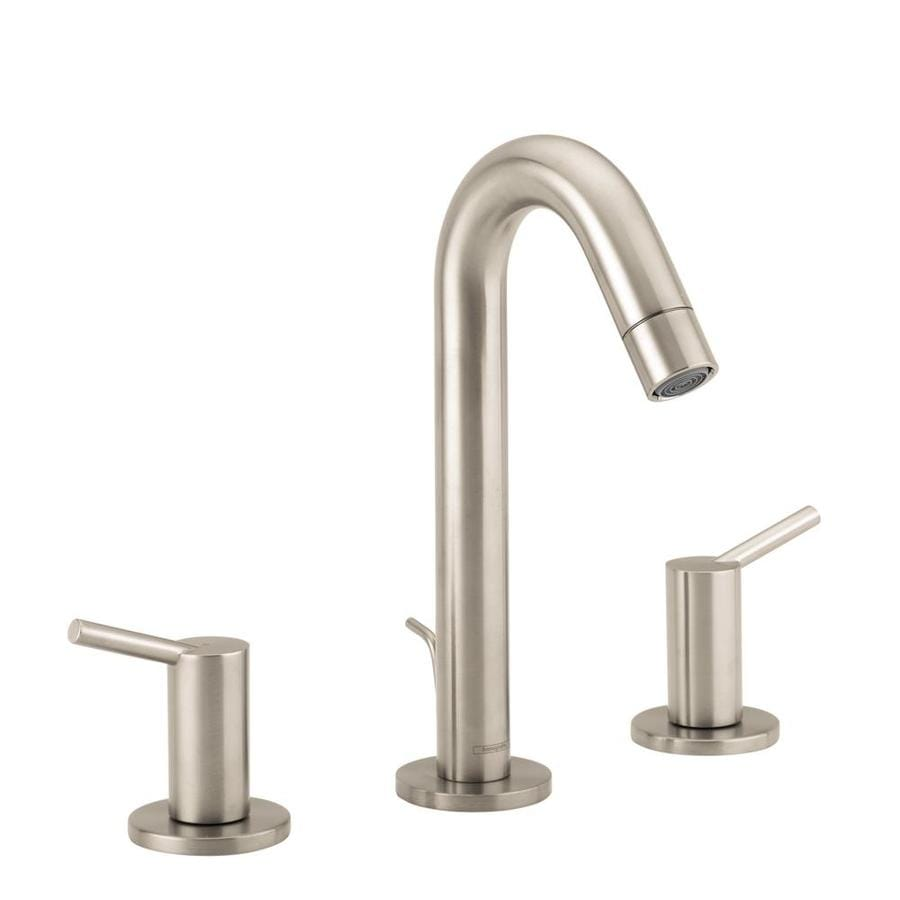 Shop hansgrohe talis s brushed nickel 2 handle widespread - Hansgrohe shower handle ...