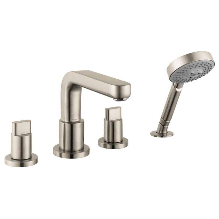 Hansgrohe Metris S Brushed Nickel 2-Handle Fixed Deck Mount Tub Faucet