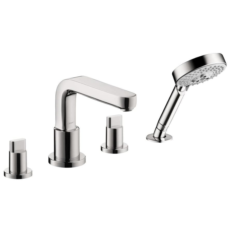 Shop hansgrohe metris s chrome 2 handle deck mount bathtub - Hansgrohe shower handle ...