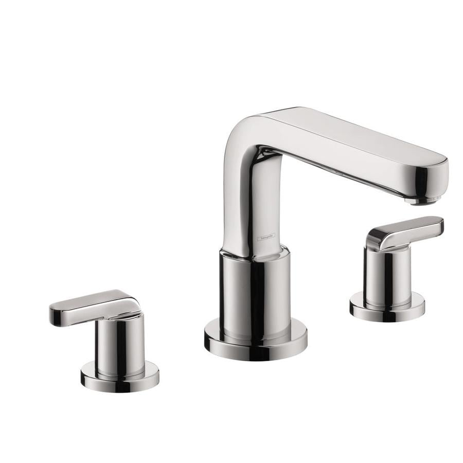 Shop hansgrohe metris s chrome 2 handle bathtub faucet at - Hansgrohe shower handle ...