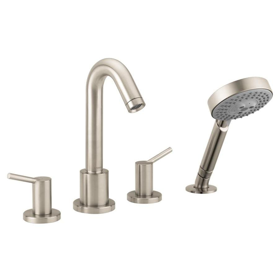 Shop hansgrohe talis s brushed nickel 2 handle bathtub - Hansgrohe shower handle ...