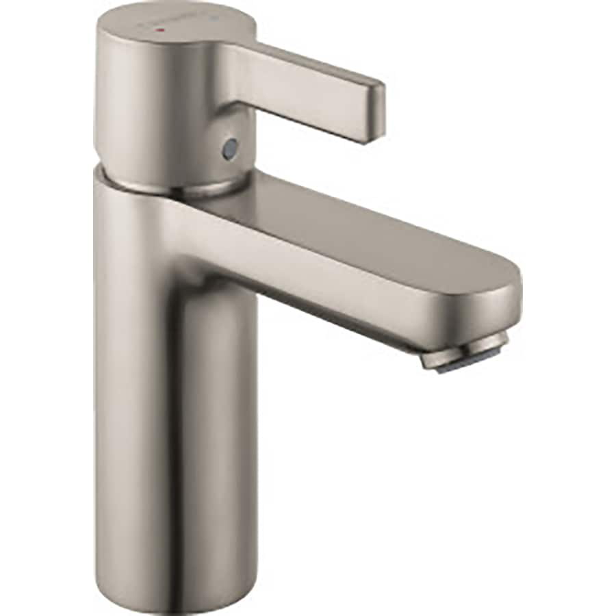 ... Brushed Nickel 1-Handle Single Hole WaterSense Bathroom Faucet (Drain
