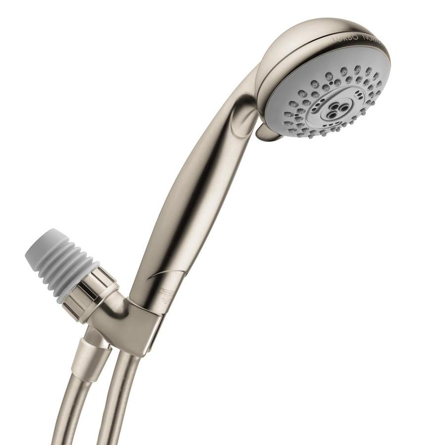 Hansgrohe HG Shower 3-in 2.5-GPM (9.5-LPM) Brushed Nickel 3-Spray Hand Shower