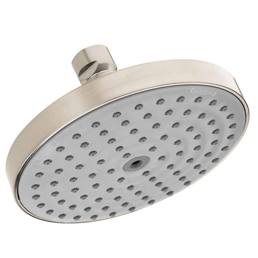 Hansgrohe HG 6-in 2.5-GPM (9.5-LPM) Brushed Nickel 1-Spray Rain Showerhead