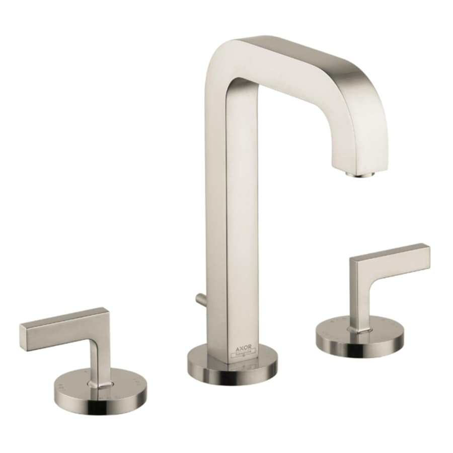 Hansgrohe Citterio Brushed Nickel 2-Handle Widespread WaterSense Bathroom Faucet (Drain Included)
