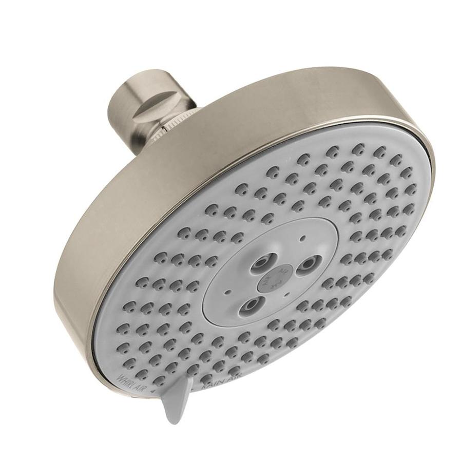Hansgrohe HG 5-in 2.5-GPM (9.5-LPM) Brushed Nickel 3-Spray Rain Showerhead