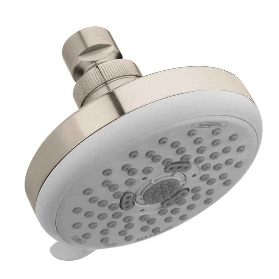 shop hansgrohe hg 4 in 6 6 lpm brushed nickel 3 spray showerhead at. Black Bedroom Furniture Sets. Home Design Ideas