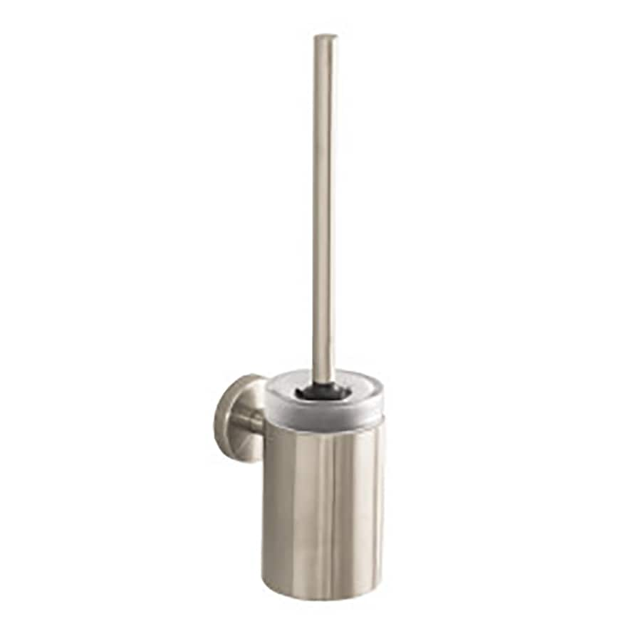 shop hansgrohe hg accessories brushed nickel brass toilet brush holder at. Black Bedroom Furniture Sets. Home Design Ideas