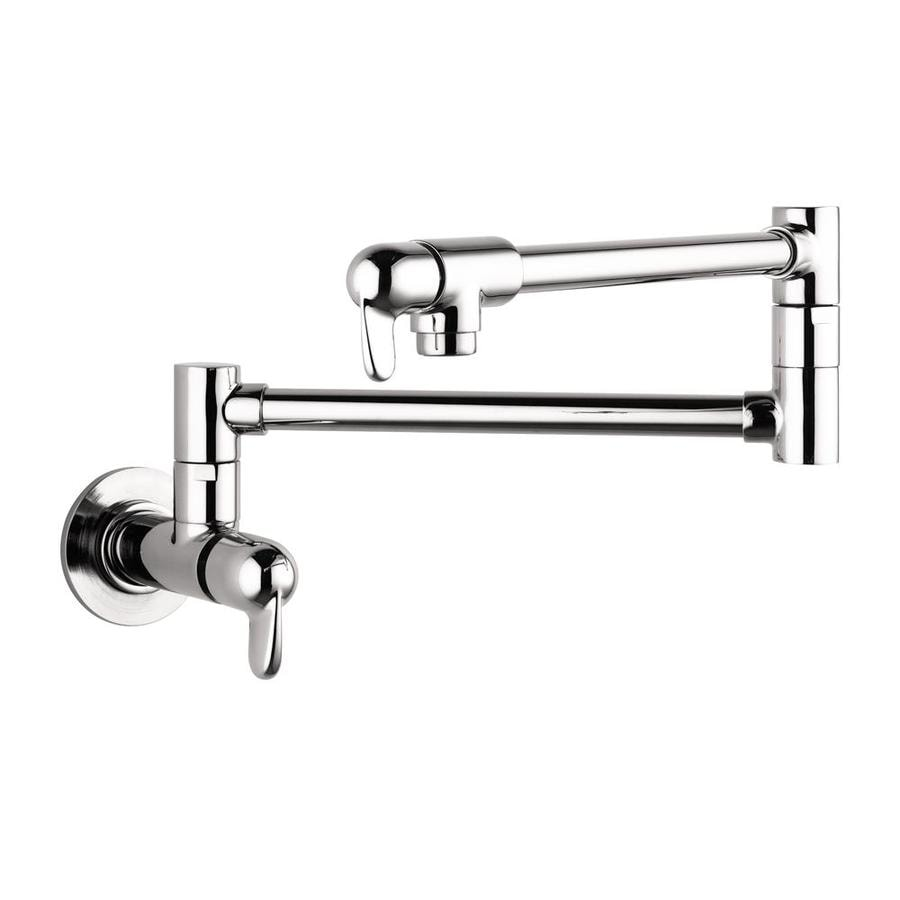Shop hansgrohe hg kitchen chrome 2 handle wall mount pot Pot filler faucet