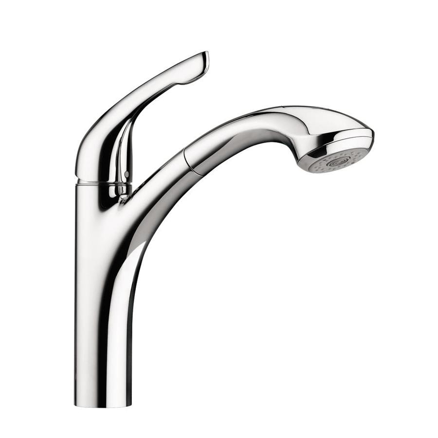 shop hansgrohe hg kitchen chrome 1 handle low arc kitchen delta kitchen faucet flow rate adapter rp61607 the home
