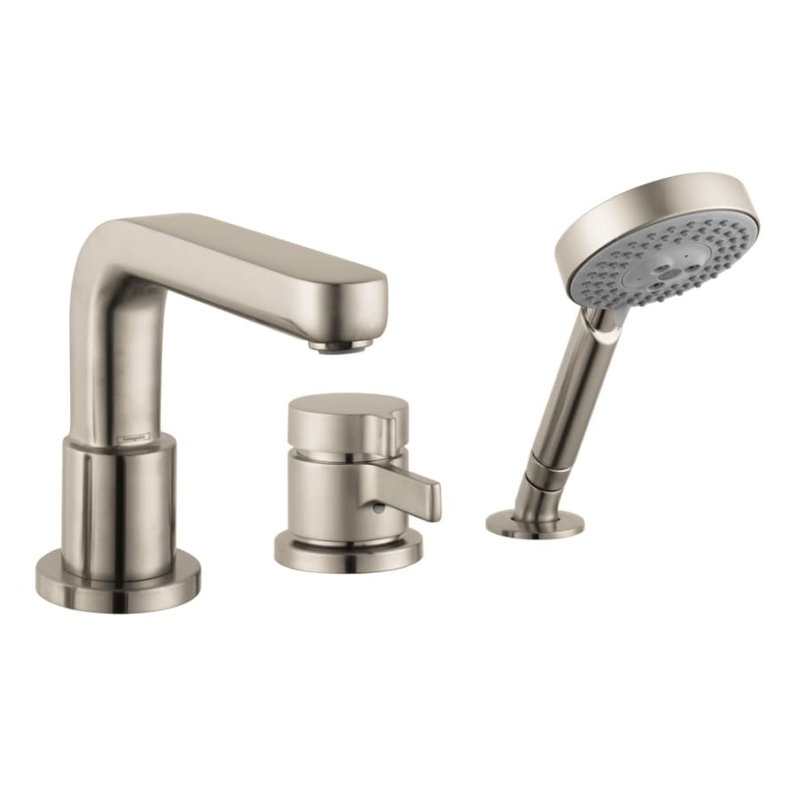 Hansgrohe Metris S Brushed Nickel 1-Handle Deck Mount Bathtub Faucet