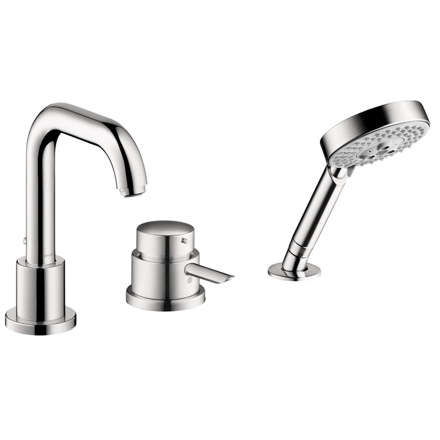 shop hansgrohe focus s chrome 1 handle deck mount bathtub faucet at. Black Bedroom Furniture Sets. Home Design Ideas