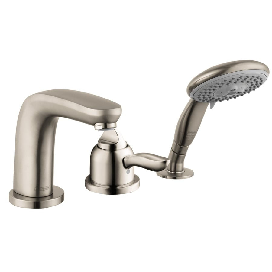 Shop hansgrohe solaris e brushed nickel 1 handle deck - Hansgrohe shower handle ...
