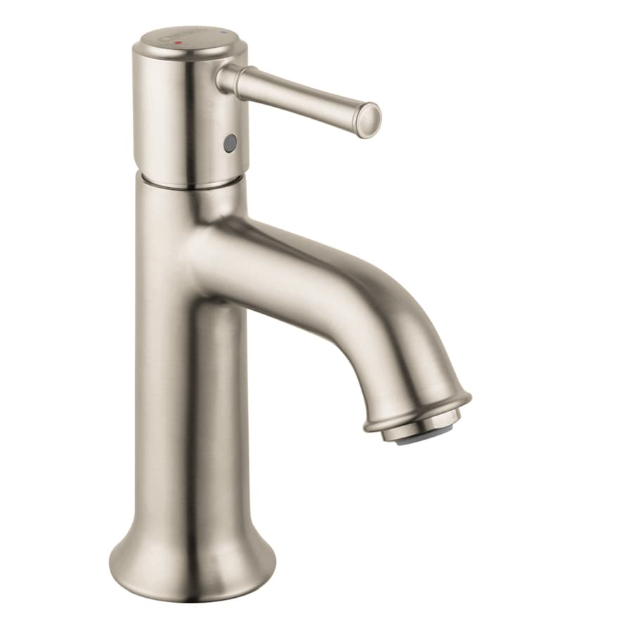 Hansgrohe Talis C Brushed Nickel 1-Handle Single Hole WaterSense Bathroom Faucet (Drain Included)